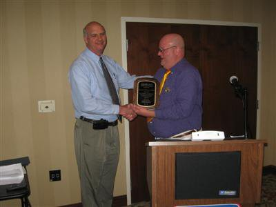 2011 ncehsa award Bob Whitwam. Also pictured Troy Dees